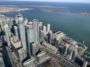 Toronto View From CN Tower